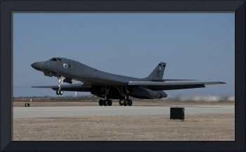 A B-1B Lancer takes off from Dyess Air Force Base,