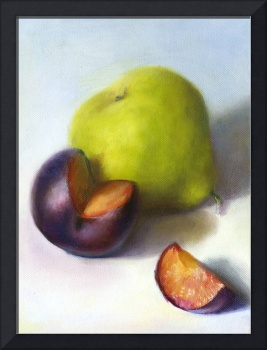 Packham Pear and Plum, Quartered