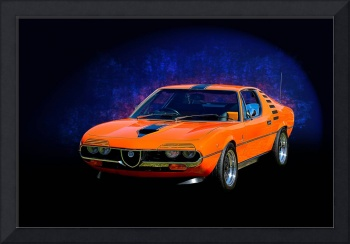 Orange Alfa Romeo Montreal