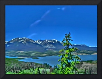 Vibrant Colorado lake scenic print