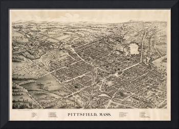 Vintage Pictorial Map of Pittsfield MA (1899)