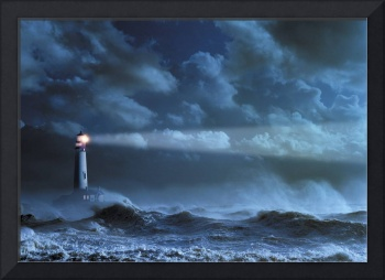 Lighthouse In A Storm