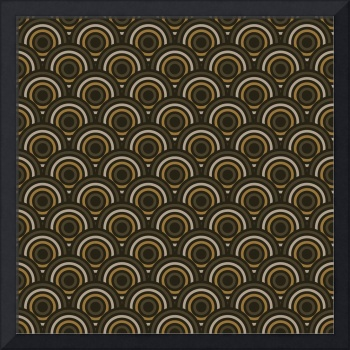 Abstract Modern Concentric Circles Texture
