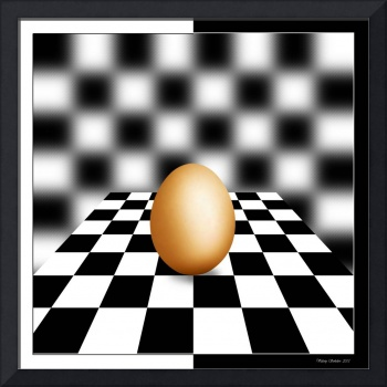 Chess Board W Egg