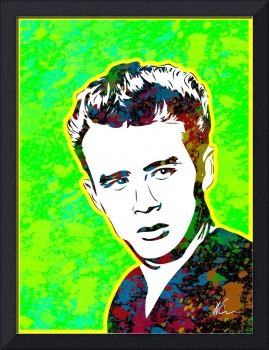 James Dean | Splatter Series | Pop Art | Green