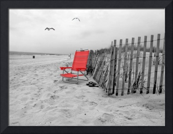 Long Beach-13 with Red Chair-2