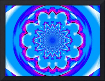 Calm Blue Lotus Mandala 2