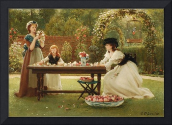 George Dunlop Leslie (1835-1921)  Feast of Roses