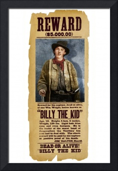 Billy The Kid Wanted Poster