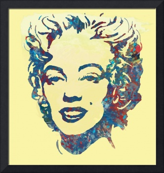 Marilyn Monroe pop art sketch poster