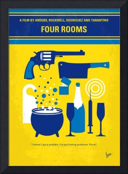 No1114 My Four Rooms minimal movie poster