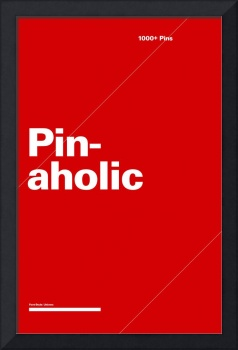 Pinaholic typographic poster - Red and White