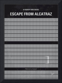 No566 My Escape From Alcatraz minimal movie poster