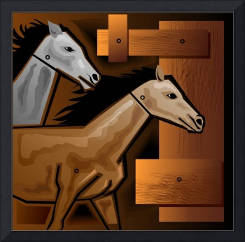 Digital painting of horse