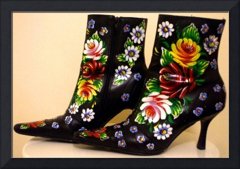 Handpainted Boots Size 7 £50.00