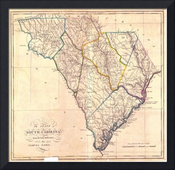 Vintage Map of South Carolina (1818)