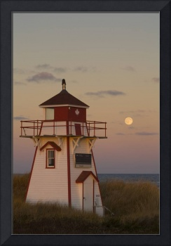 Full Moon Over Covehead Lighthouse, Prince Edward