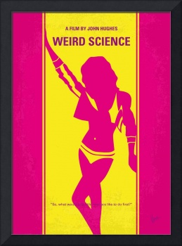 No106 My Weird science minimal movie poster
