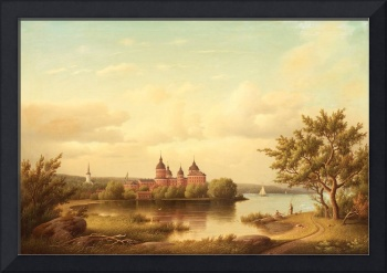 CARL ABRAHAM ROTHSTÉN, VIEW OF GRIPSHOLM CASTLE.
