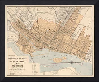 Vintage Map of Montreal (1906)