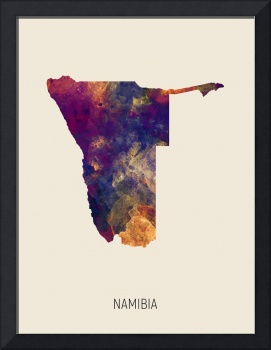 Namibia Watercolor Map