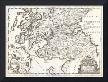 Map of Southern Scotland by Coronelli