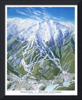 Whistler 1992 Trail Map Painting