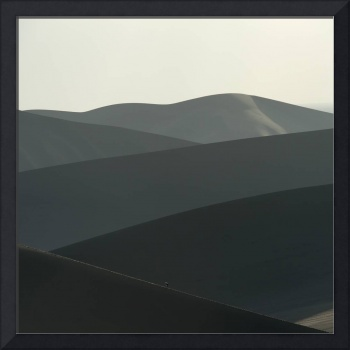 Desert landscape with slopes of sand