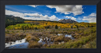 Autumn Season Rocky Mountain Pass Panorama