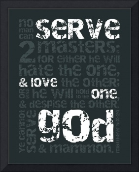 Serve God • Gunmetal