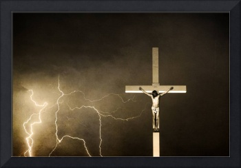 Lord have Mercy - Crucifixion of Jesus - Sepia