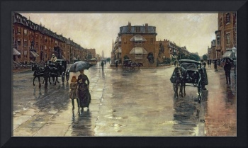 A Rainy Day in Boston by Childe Hassam