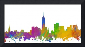 New York City Skyline Silhouette I
