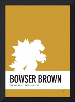 No38 My Minimal Color Code poster Bowser