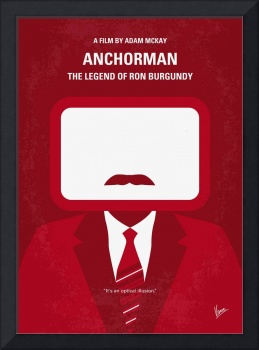No278 My anchorman minimal movie poster