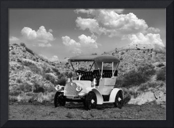 Antique Auto in a Texas canyon