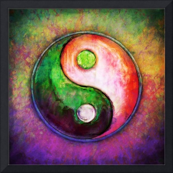 Yin Yang - Colorful Painting VIII