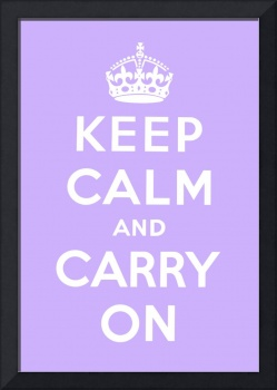 Purple Keep Calm And Carry On 3