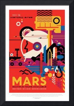 NASA Mars Tours Space Travel Poster