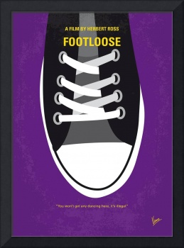 No610 My Footloose minimal movie poster