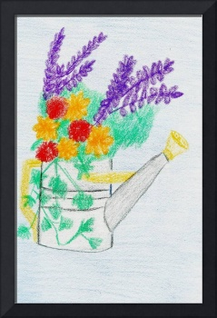 Flowers in Watering Can I