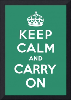 Green Keep Calm And Carry On 10