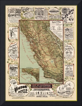 California Bicycle Ad Map