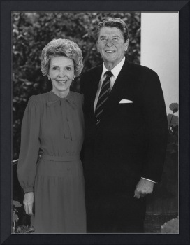 President Ronald Reagan and his wife Nancy