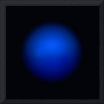 Blue ball abstact