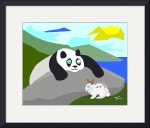 Panda and Bunny by Tim Freriks