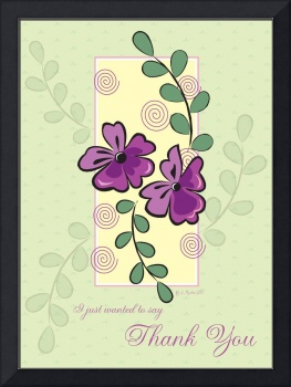 Purple Vines Thank You Card