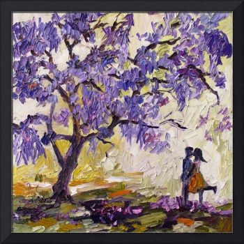 Love under the Jacaranda Tree Purple Blossoms