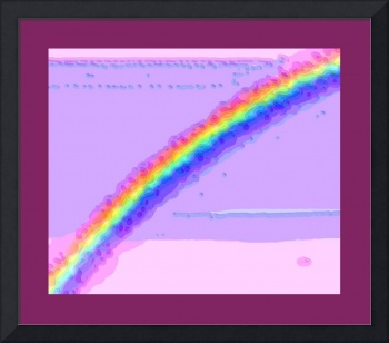 Rainbow with large border