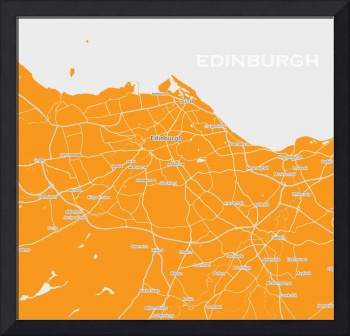 Minimalist Modern Map of IEdinburgh, Scotland 5a